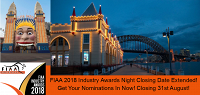 Nominations for the 2018 FIAA Industry Awards, have been extended to 31st of August